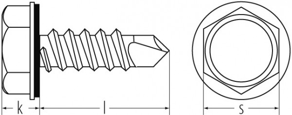Bohrschr. nach DIN 7504 K 4,2X32 SW7 A2