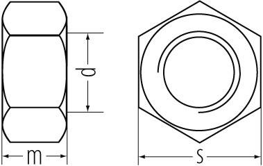 6kt-Muttern DIN 934/ ISO 4032 vz 10. M14