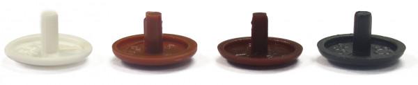 Abdeckkappen braunbeige 12/2,5/5,0 mm