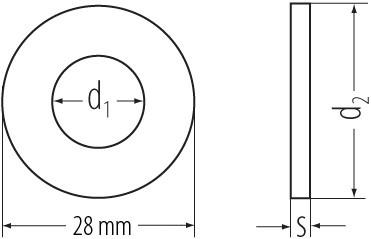 Scheiben DIN 134 verzinkt 5,5mm