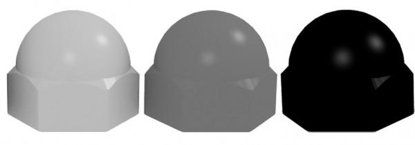 Schutzkappen M10 SW 17 steingr. RAL 7030
