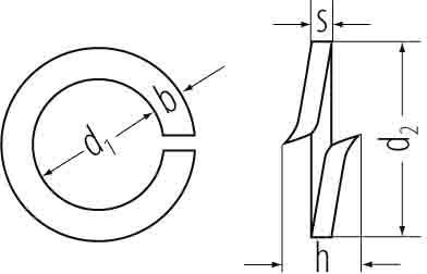 Federringe fvz DIN 127 10mm