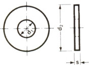 Kotflügelscheiben vz 10,5x20mm