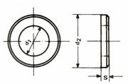 U-Scheiben DIN 125 A bl 10,5mm