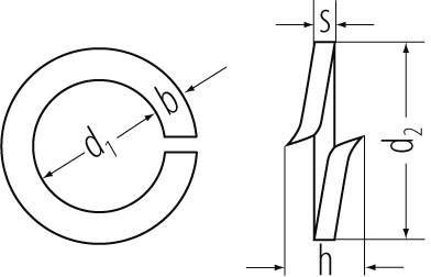 Federringe bl DIN 127 10mm