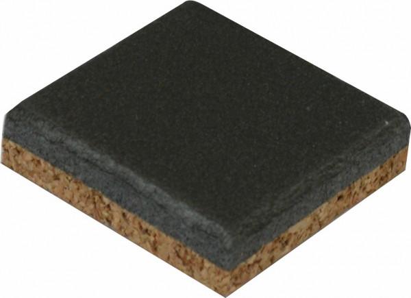 Kork/PE-Schaumstoff-Puffer grau 40x40x10