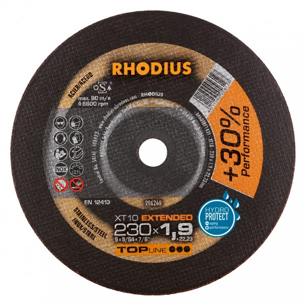 Rhodius XT10 EXTENDED Edelstahltrennscheibe