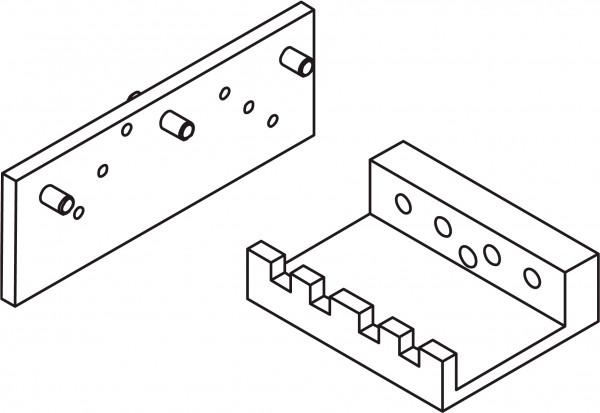 SILISTO Bohrschablone für Türbänder
