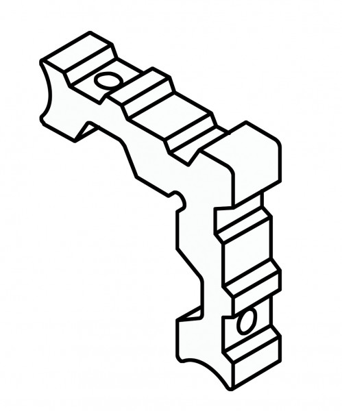Profilia Eckverbinder blank