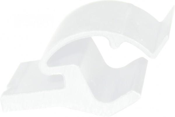 Glasleistenhalter weiß
