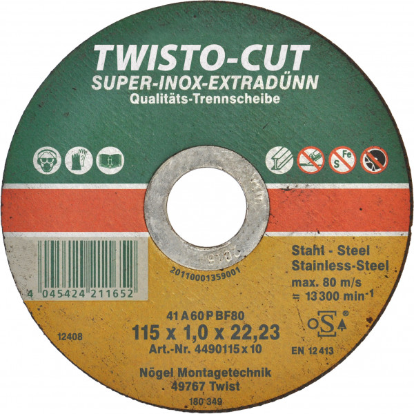 TWISTO-CUT SUPER-INOX 115x1,0x22