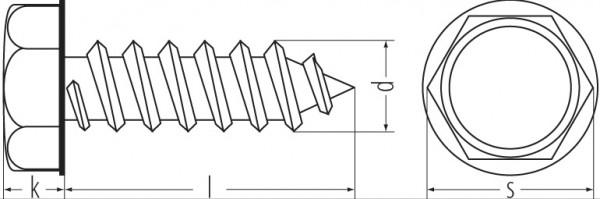 6kt.Blechschr. VZ DIN 7976 5,5x16