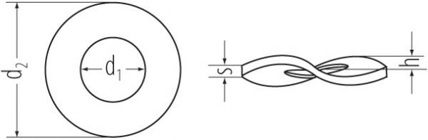 Federscheiben DIN 137 B vz 16mm