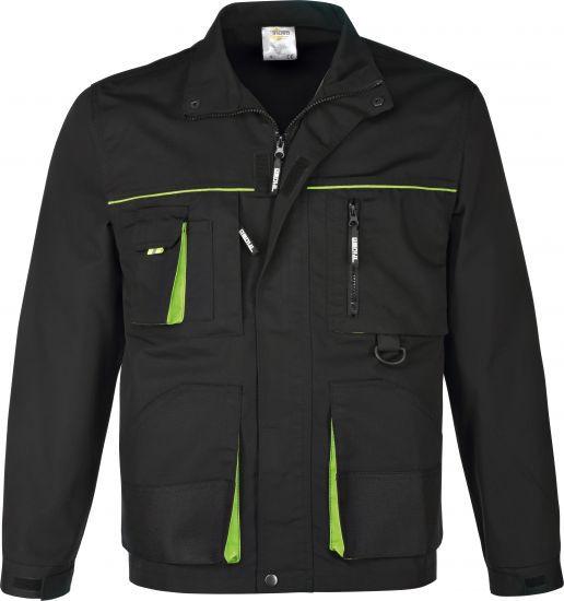 Arbeitsjacke schwarz/grün Gr. XXL
