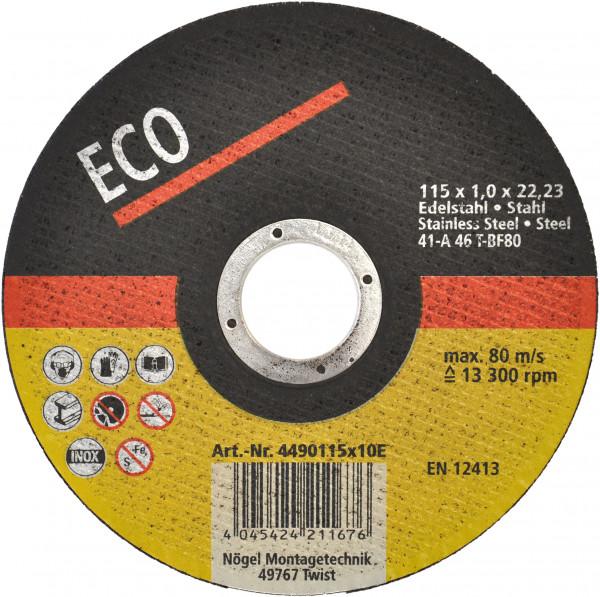 Trennscheibe Eco Stahl 125x2,5x22