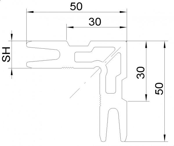 JET Eckverbinder für System Heroal 029